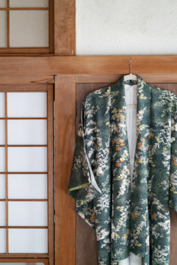 Kimono hanging detail at SARUYA Artist Residency in Japan