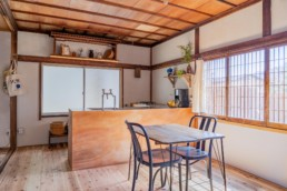Kitchen of SARUYA Artist Residency in Japan